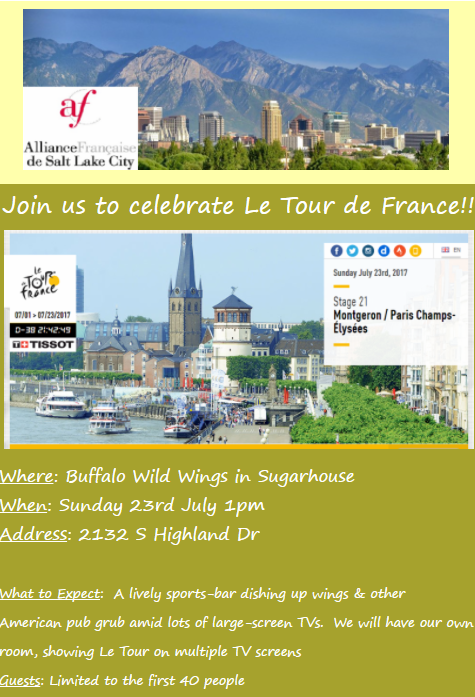 Invite Image tour de france 2017
